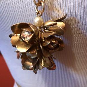 JCrew pretty long flower necklace